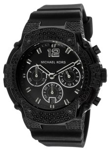 Michael Kors BRAND NEW WOMENS MICHAEL KORS (MK5510) CHRONOGRAPH GEMMA BLACK SILICONE WATCH