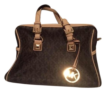 Preload https://item1.tradesy.com/images/michael-kors-chain-perforated-grayson-brown-canvas-satchel-4029640-0-0.jpg?width=440&height=440