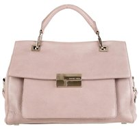 Michael Kors Collection Leather Strap Satchel in Grey Lavender