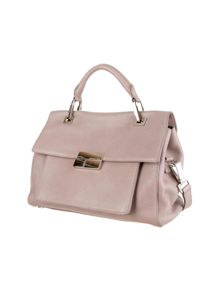 michael kors collection grey lavender leather quinn small top handle satchel tradesy. Black Bedroom Furniture Sets. Home Design Ideas