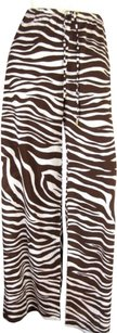 Michael Kors Michael Kors Brown Cream Zebra Print Swim Pool Coverup Lounge Pants Perfect M