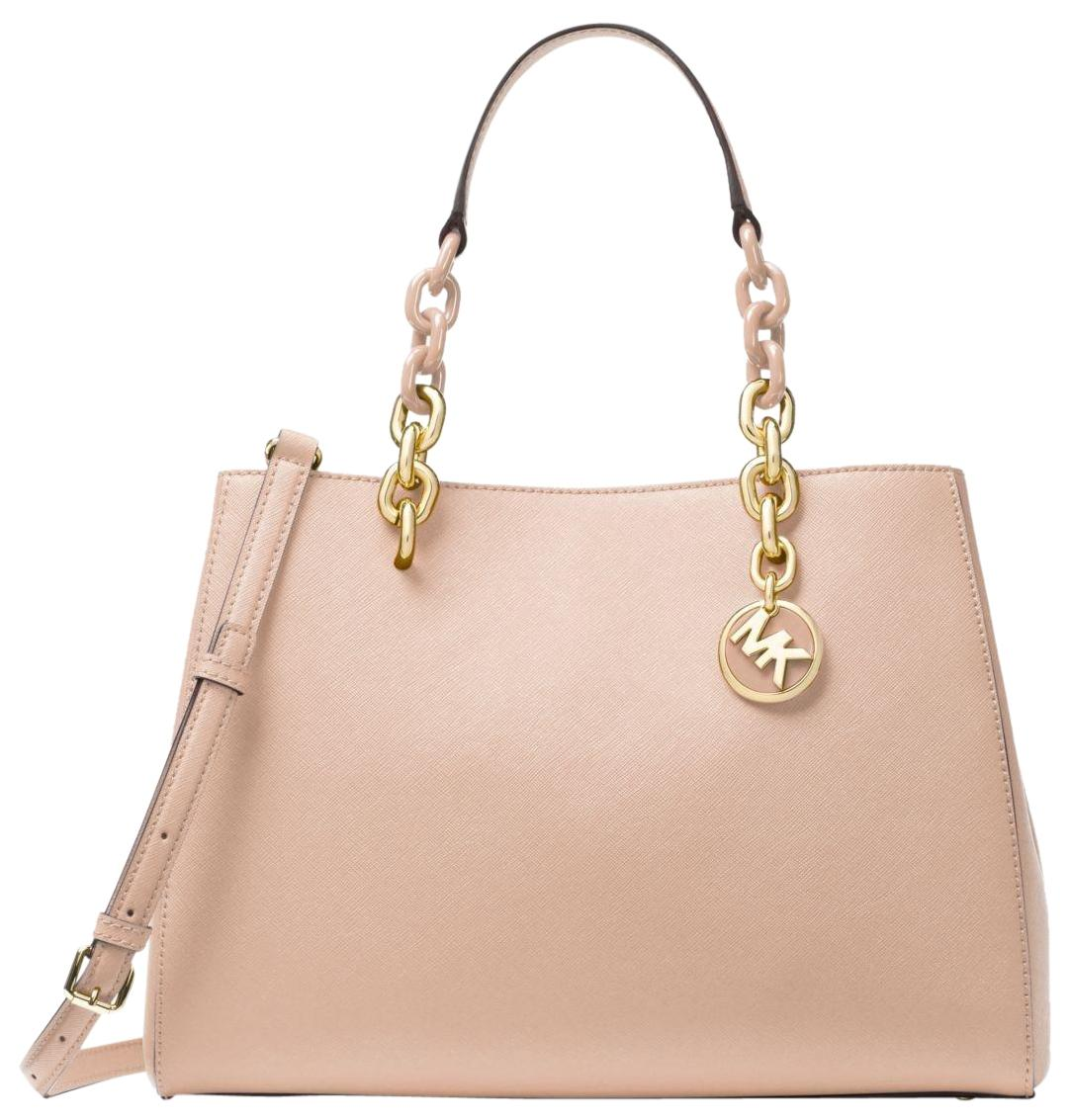 3ecff4554a51 ... cheap michael kors leather satchel in soft pink 46937 d5b3b