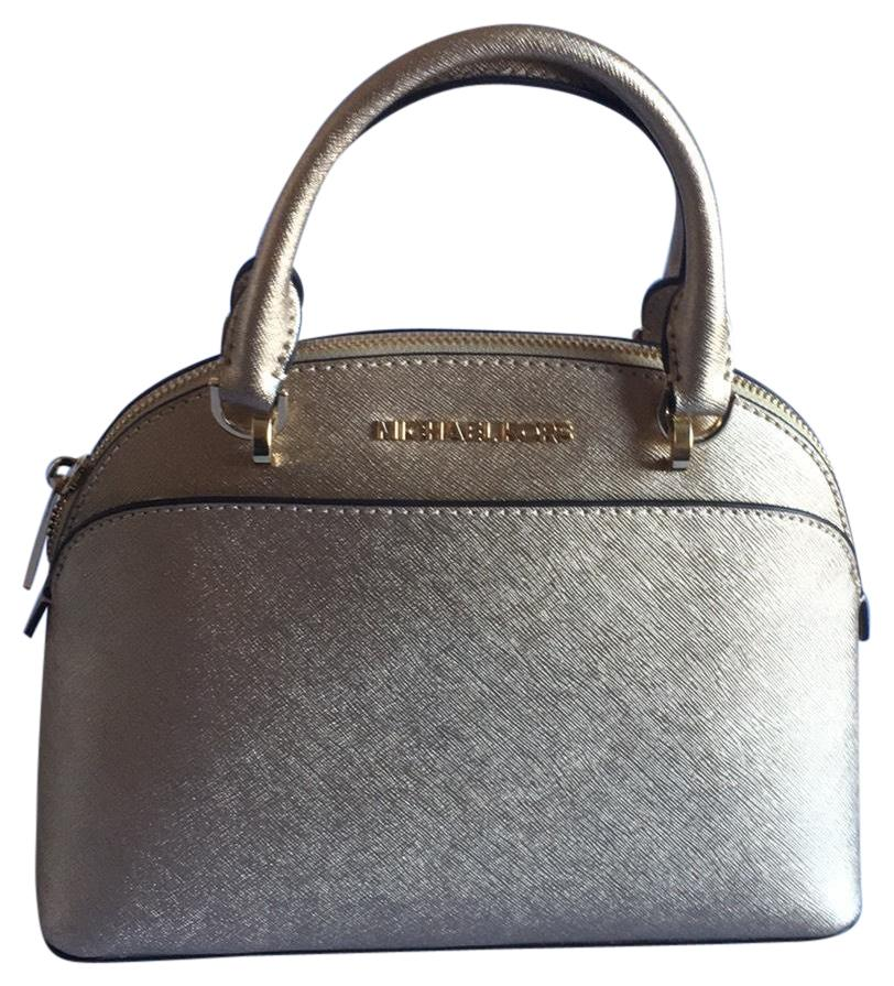 7719281b87 ... emmy womens shoulder handbag large dome satchel vanilla gold 9a25f  5a9ab  coupon code for michael kors satchel in pale gold a9e13 4dae4