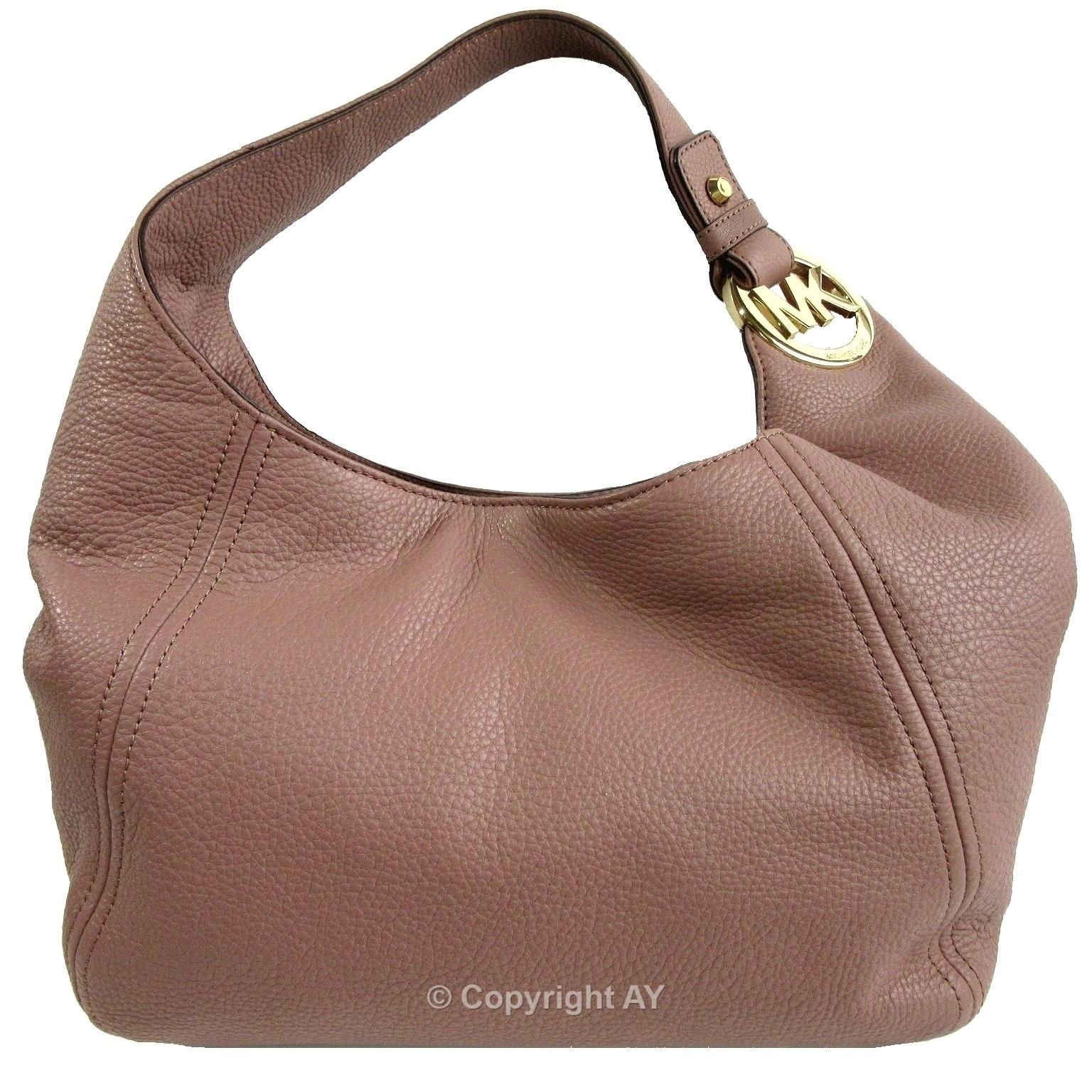 Michael Kors Fulton Large Slouchy Leather Shoulder Bag on Sale, 28 ...