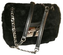 Michael Kors Fur Shearling Silver Hardware Shoulder Bag