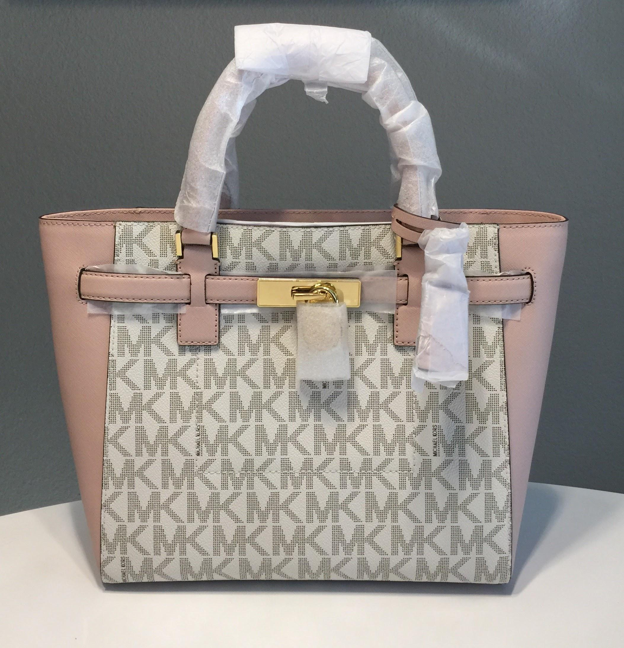 a2f7d5f41c35 ... italy michael kors handbag handbag set matching hamilton travel satchel  in vanilla and ballet pink.