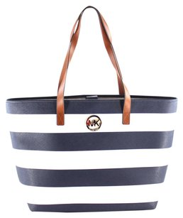 Michael Kors Jet Set Tote in Striped Navy White