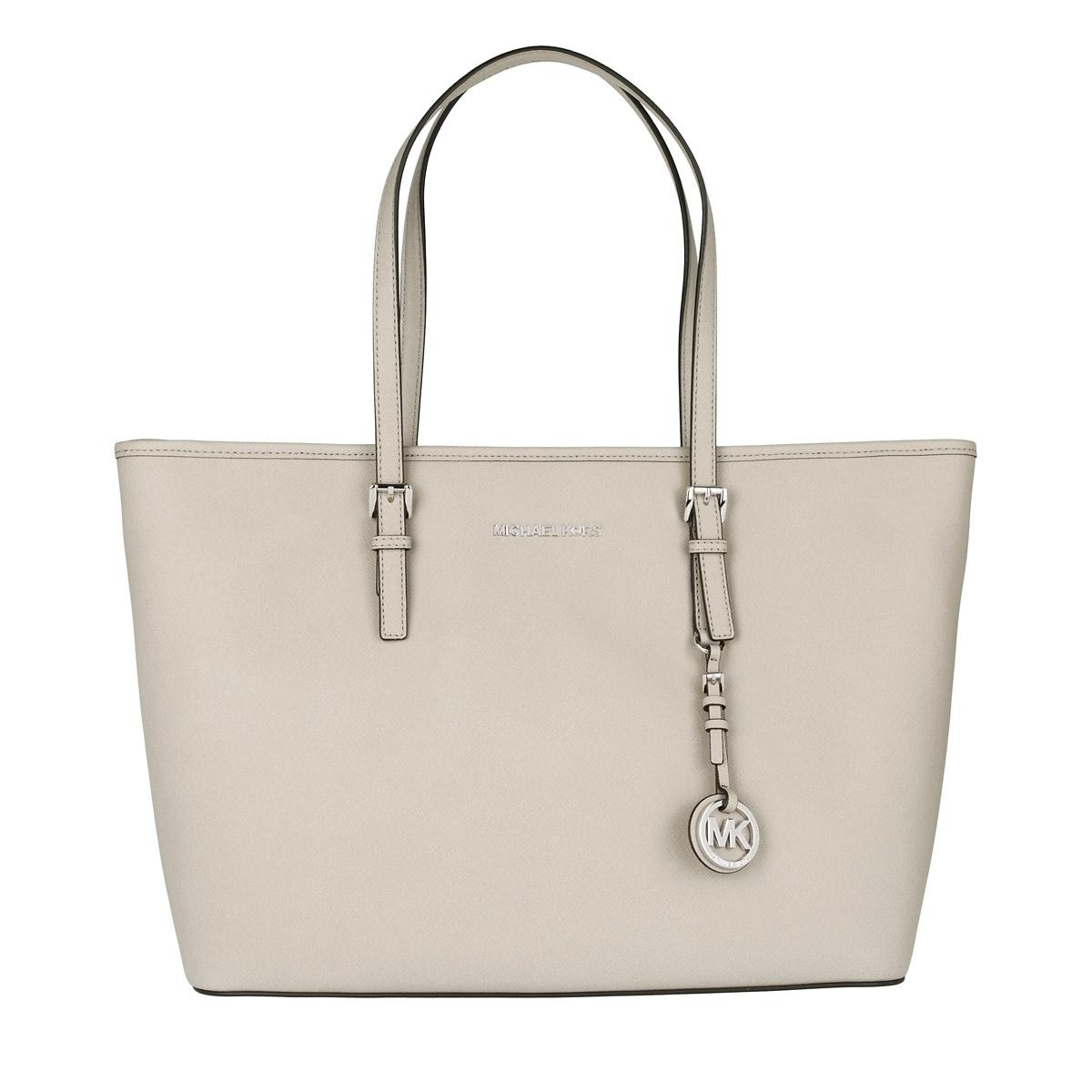 a6a1bc1ddc42 ... coupon for michael kors jet set travel md tz multifunction cement suede  leather tote tradesy 4f423