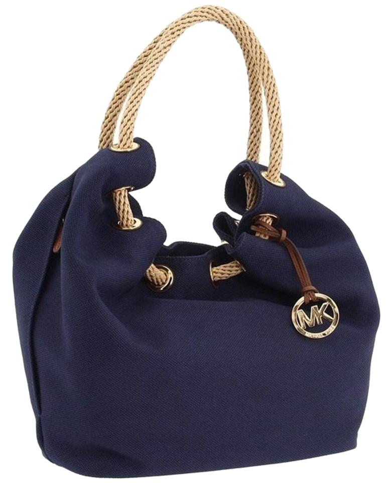 1d9bd152486342 ... promo code for michael kors marina purse tote in navy 8c3ae fe1fd