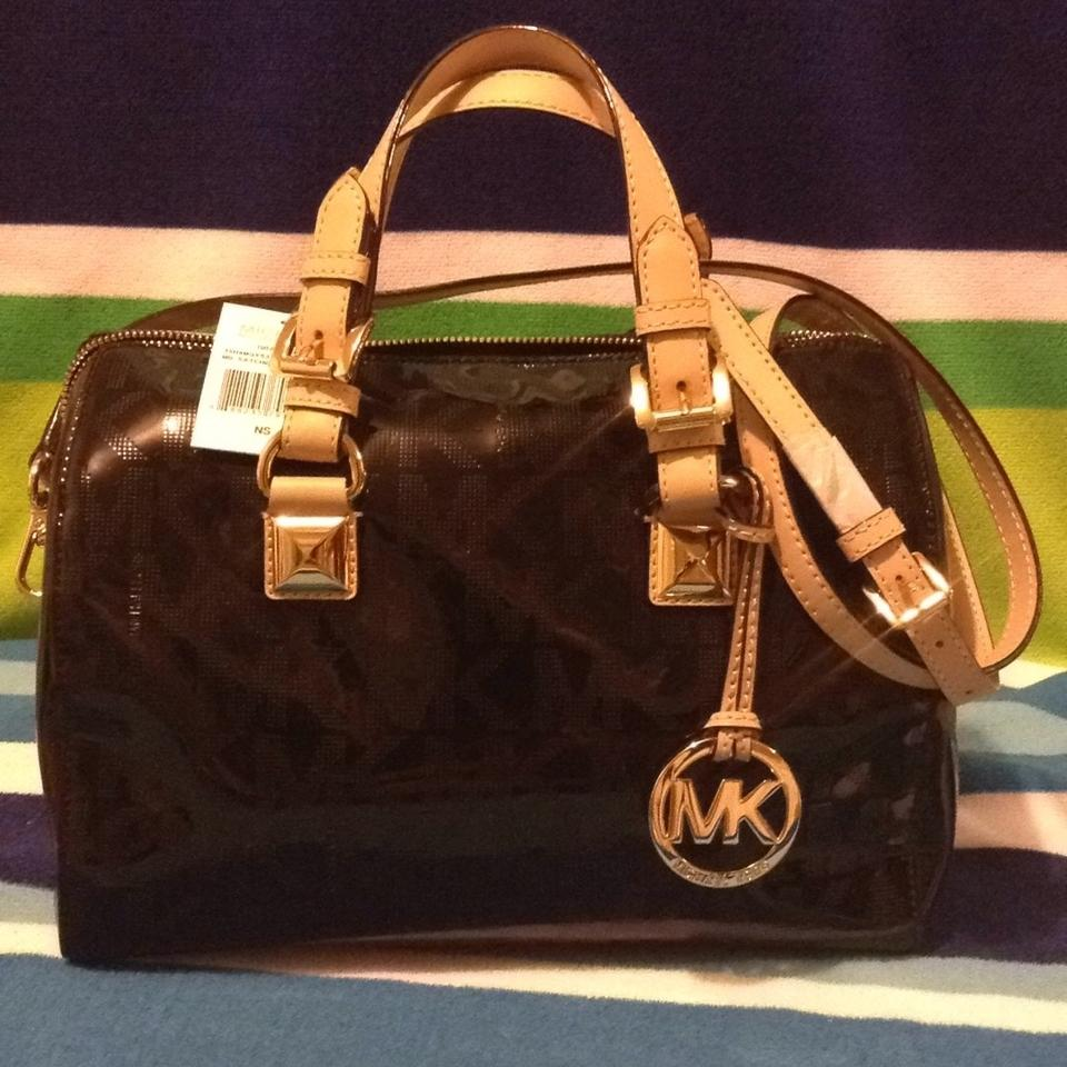 1dce0555cdac 12345678 529cd 9921f  wholesale michael kors medium signature mirror  metallic grayson free gift black pvc satchel tradesy 17b20 e18b5