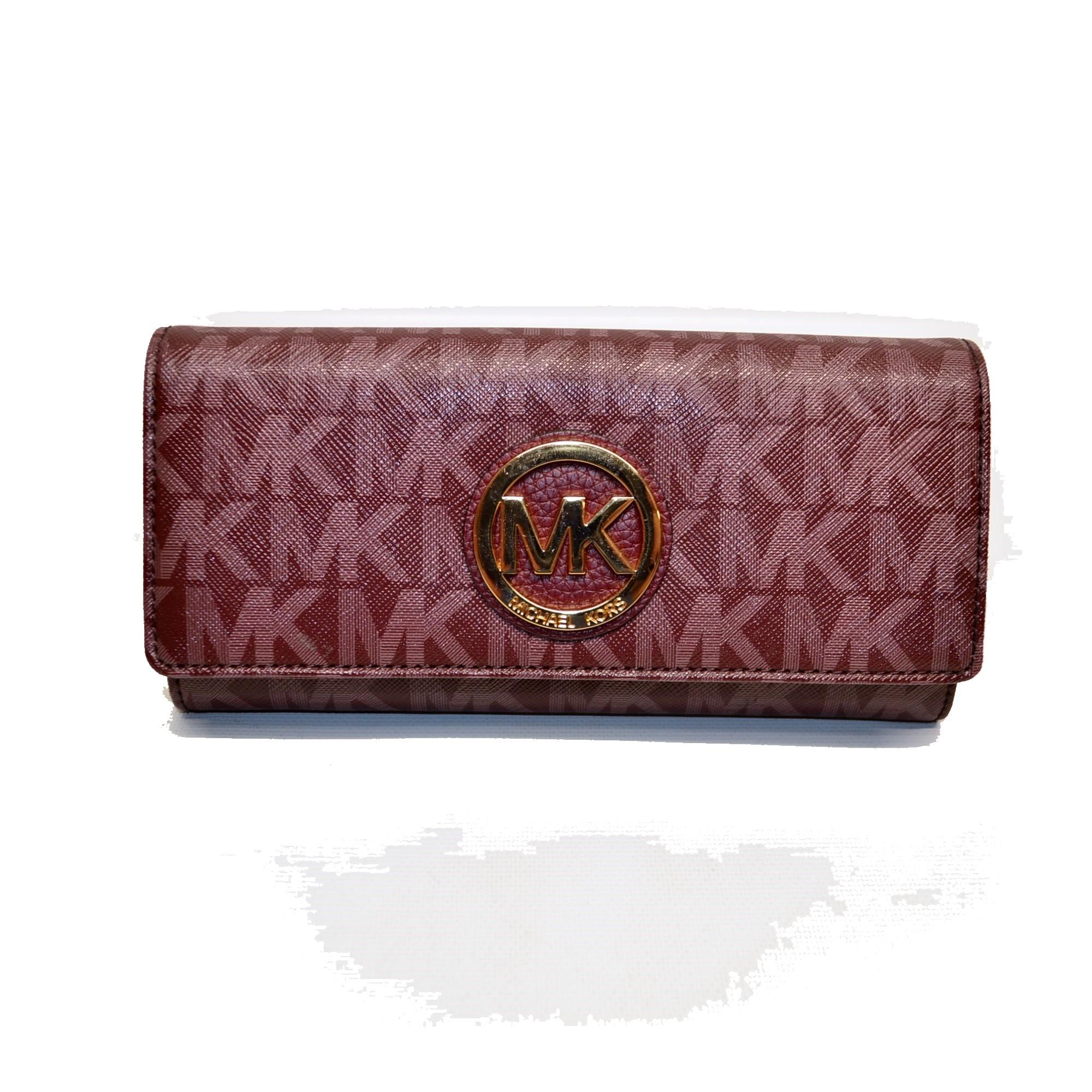 7db15b01d886e5 ... discount code for michael kors fulton flap continental signature wallet  clutch 07b76 ad52a