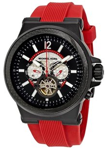 Michael Kors MICHAEL KORS Dylan Oversize Red Silicone Automatic Men's Watch