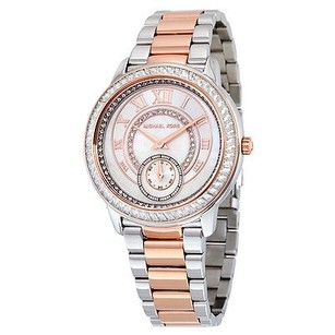 Michael Kors Michael Kors Madelyn Mother Of Pearl Dial Two Tone Stainless Steel Ladies Watch