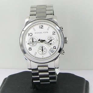 Michael Kors Michael Kors Mk5076 Runway Chronograph Silver Dial 38mm Womens Watch