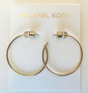 Michael Kors Michael Kors MKJ4828710 Gold-Tone Slender Hoop Earrings