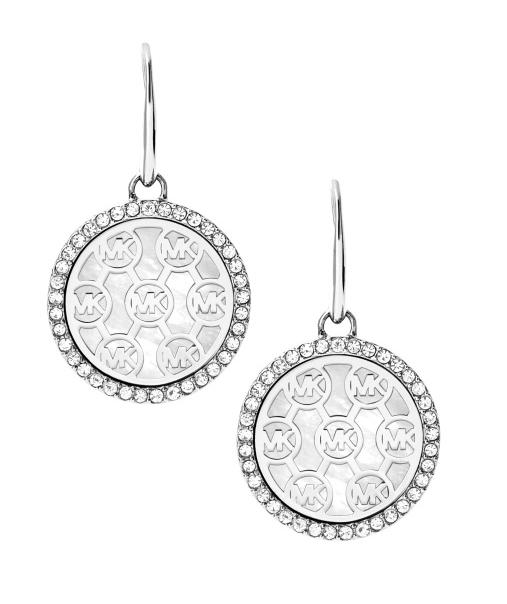 Michael Kors Michael Kors MKJ5368040 MK Monogram MOP Crystals Drop Earrings