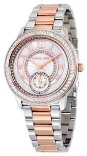 Michael Kors MICHAEL KORS Pearl Dial Two Tone Stainless Steel Ladies Watch MK6288