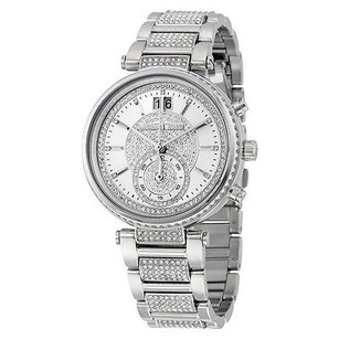 Michael Kors Michael Kors Sawyer Silver Crystal Pave Dial Stainless Steel Ladies Watch