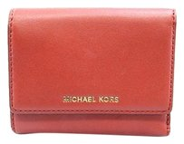 Michael Kors Michael Kors Colby Dark Red Leather Trifold Organizer Wallet -