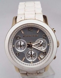 Michael Kors Michael Kors White Polyurethane Ladies Watch Mk5145