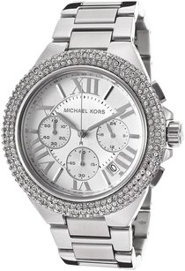 Michael Kors Michael Kors Women's Camille Silver Tone Stainless Steel Chrono Watch