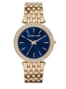 Michael Kors Michael Kors Womens Darci Gold-tone Stainless Steel Bracelet Watch Mk3406