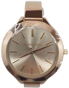 Michael Kors Michael Kors Womens Slim Runway Gold Tone Steel Bangle Watch Mk3275