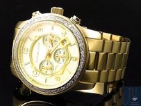Michael Kors Micheal Kors Gold Mm Stainless Steel Watch With Custom Set Diamonds Ct