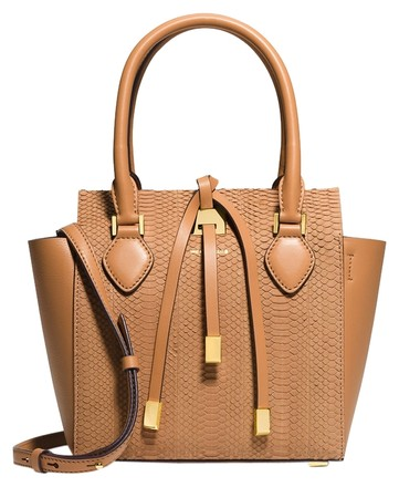 Preload https://item1.tradesy.com/images/michael-kors-miranda-small-snake-peanut-suede-and-leather-tote-5175790-0-0.jpg?width=440&height=440