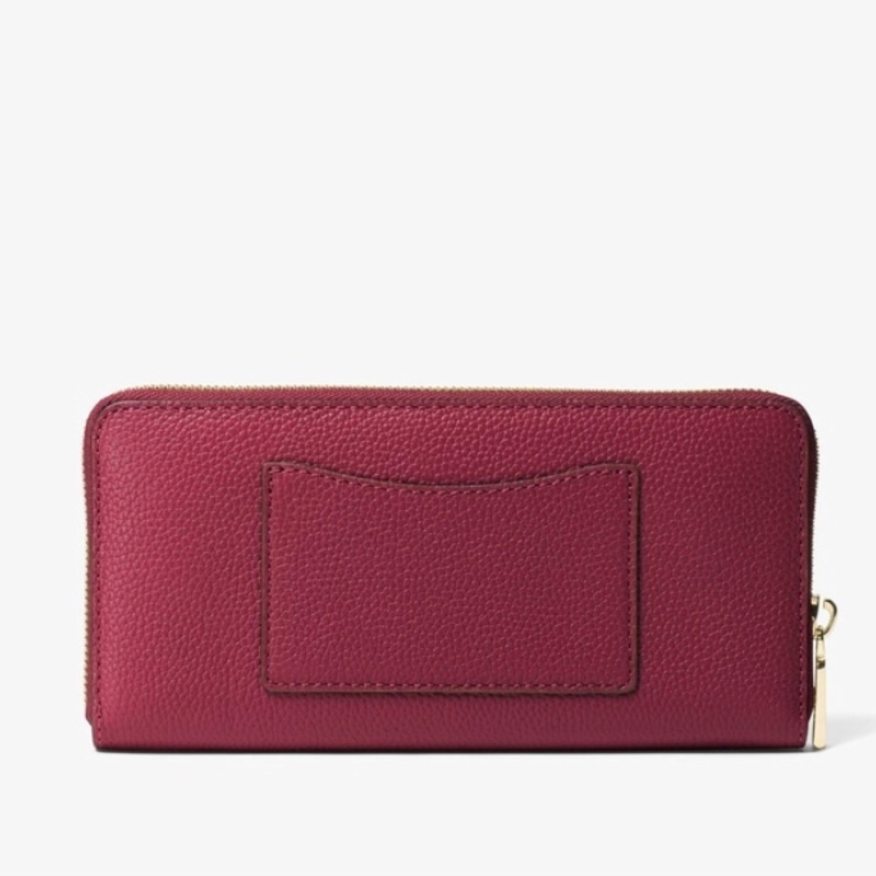 795a762bb1c ... coupon code for michael kors mulberry grey jet set saffiano leather  continental wallet tradesy e0650 881c0