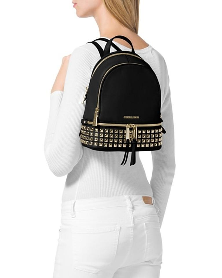 6e32d8a59a88 ... ireland michael kors new rhea extra small zip studded ballet silver leather  backpack tradesy 37e0d 5621a