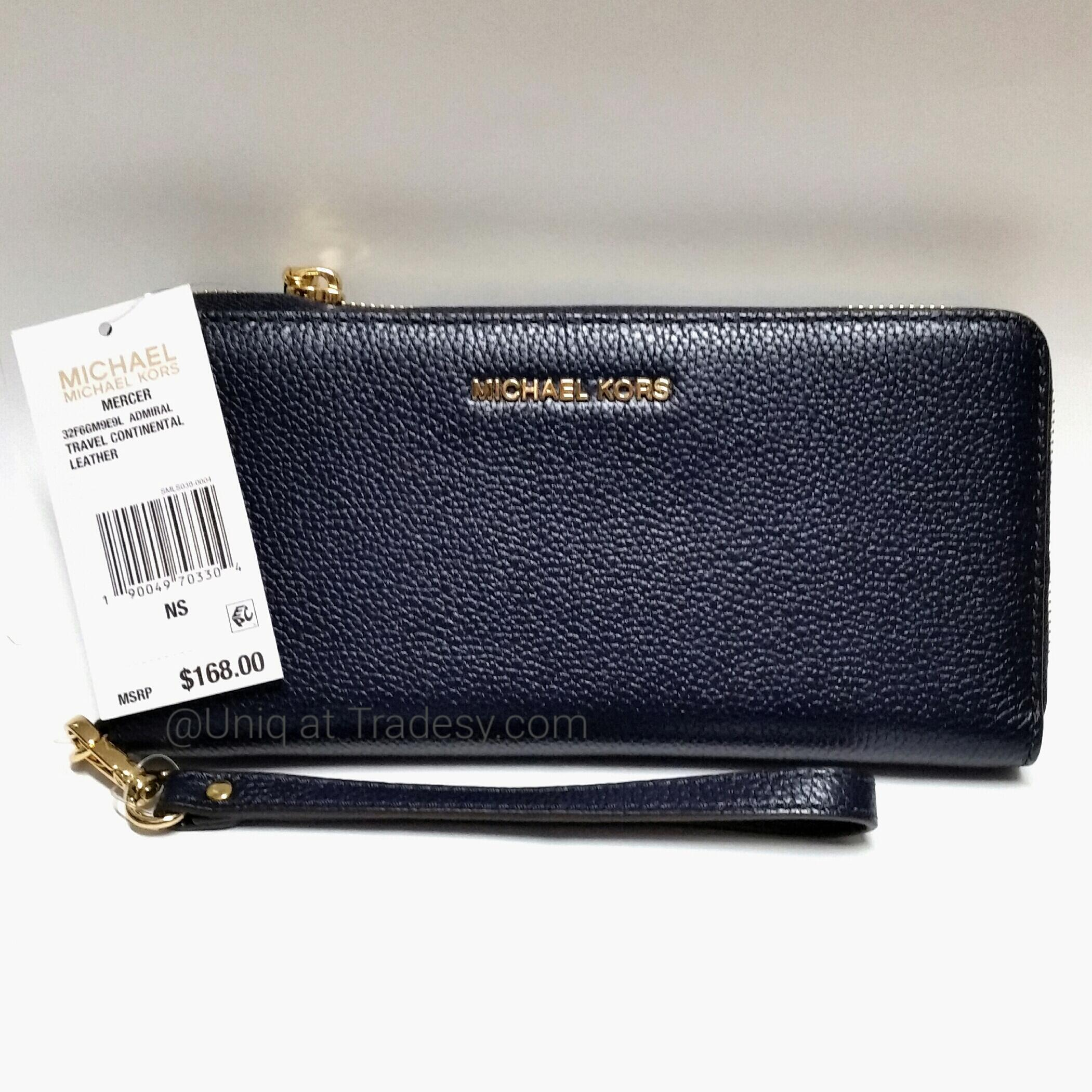 b3c86d9292b6 ... netherlands michael kors nwt travel continental zip around mercer  leather wristlet wallet bag. 123456789 50d85