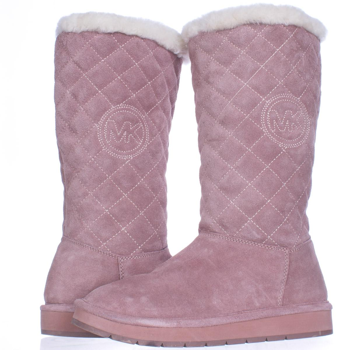 Michael Kors Michael Sandy Quilted Winter 7 Us Pink Boots