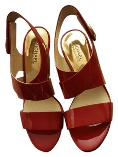 Michael Kors Red Patent Sandals