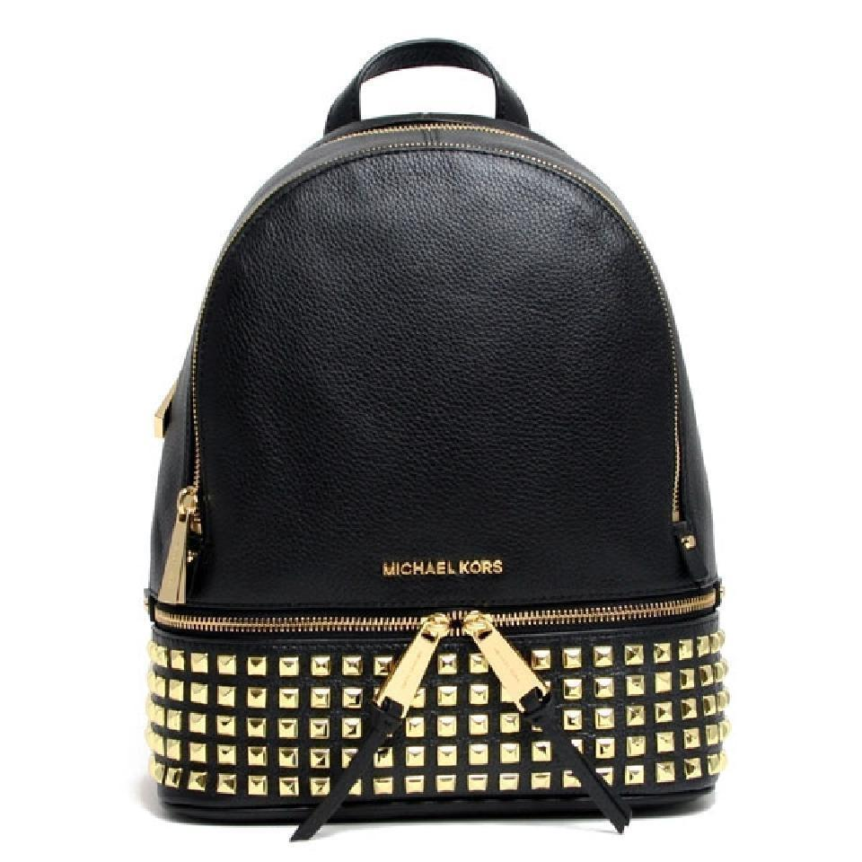 b6ec0c799ccb ... free shipping michael kors mk rhea rhea mk medium rhea mk leather rhea  pyramid studded backpack