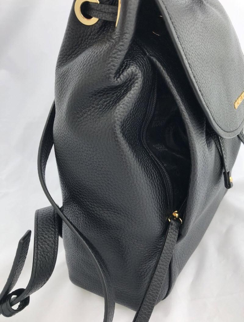 0a672777170a12 ... best price michael kors riley large drawstring black leather backpack  tradesy dd4c3 c0916 ...