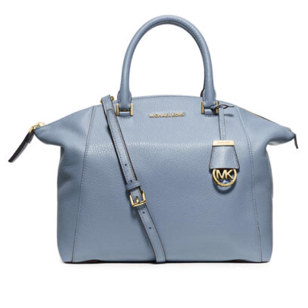 e598793a754d ... france michael kors satchel in pale blue 06034 9d883
