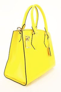 Michael Kors Womens Leather Satchel in yellow