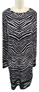 Michael Kors short dress Multi-Color Michael Zebra Print Green Trim Ls Shift on Tradesy