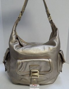Michael Kors Metallic Leather Hobo Shoulder Bag