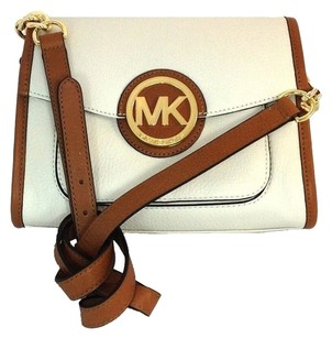 Michael Kors Soft Genuine Pebbled Leather Cross Body Bag