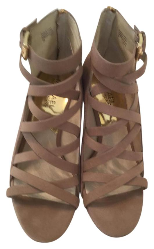 michael kors sandals outlet tpia  Michael Kors Suede Strappy Sand Sandals