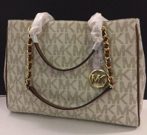 a85db275c7ab ... coupon for michael kors susannah satchel tote in vanilla. 1234567 2f5dc  253b9