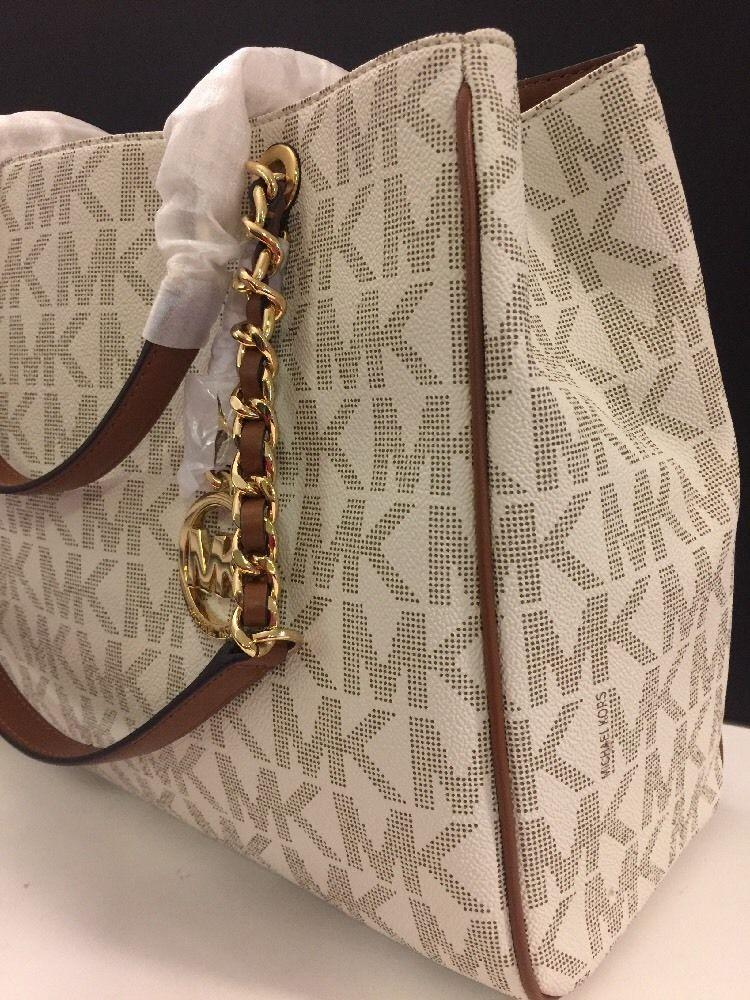 c7671821a3ff ... coupon for michael kors susannah satchel tote in vanilla. 1234567 cf3d0  24de4
