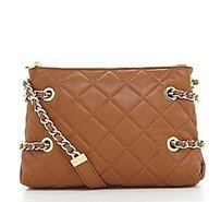 Michael Kors Susannah Leather Messenger Cross Body Bag