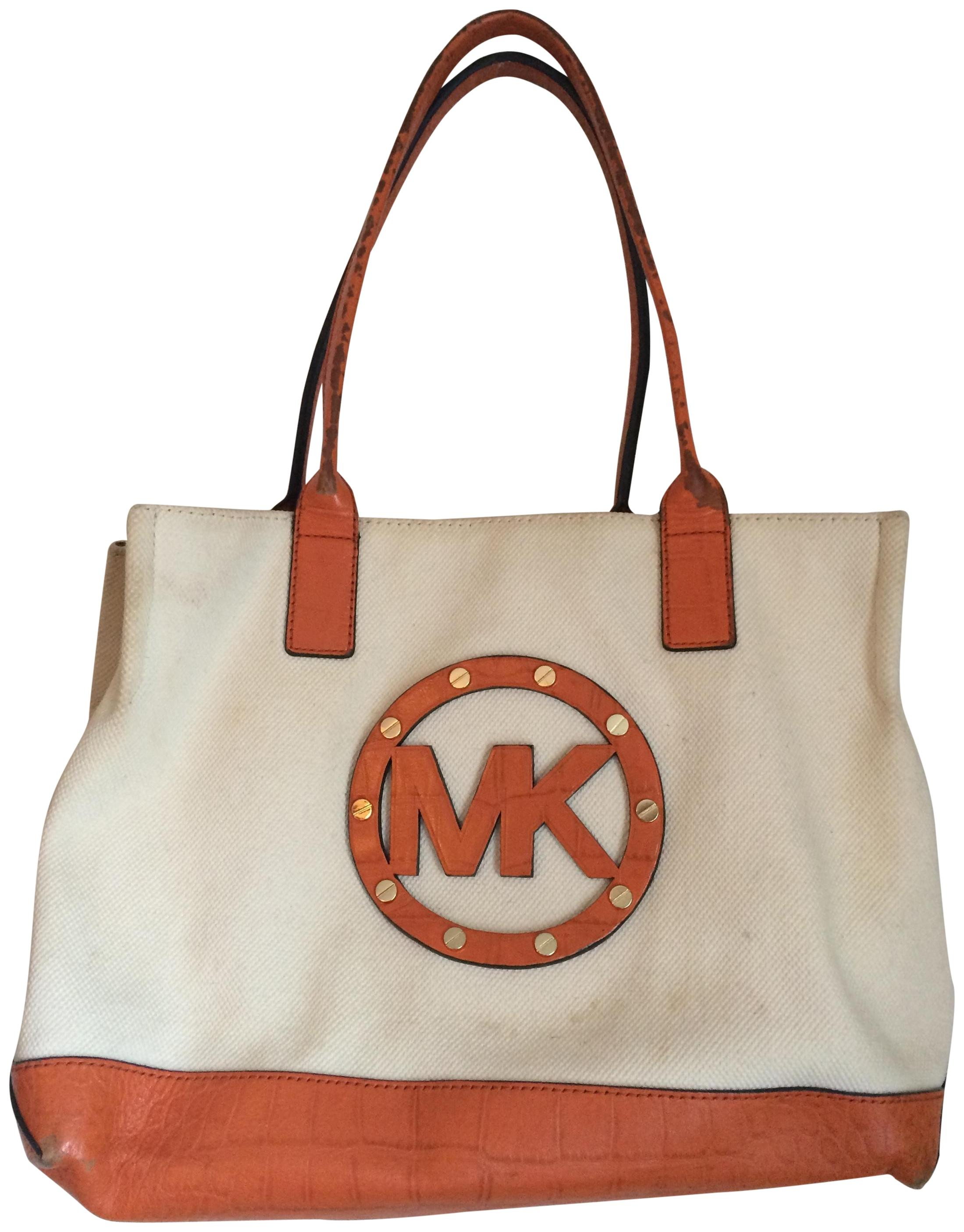 d5ddb424ca78fb discount code for home michael kors jet set tangerine canvas tote. click  thumbnail to zoom. found 79a2e eac1a; czech michael kors leather canvas tote  in ...