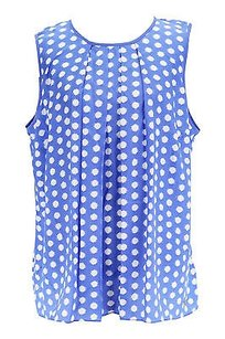 Michael Kors Polka Dot Womens Top blue
