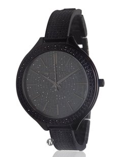 Michael Kors Womens Michael Kors Mk3318 Runway Black Pave Glitz Watch