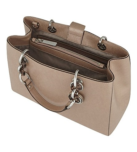 f8e37db65dc7 ... coupon code michael michael kors cynthia medium ballet silver saffiano  leather satchel tradesy 929e4 0b526