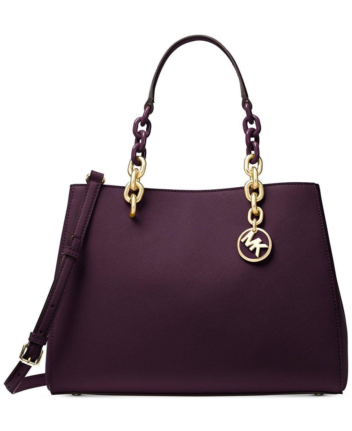 a8a570f0ed75 ... coupon code for michael michael kors medium cynthia saffiano leather  shoulder satchel in damsonpurple c71bc 5c97c ...